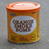 Orange Smoke Bomb